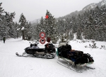 Moto neige, parking La Borda