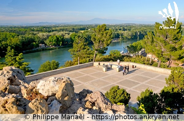 Rocher des Doms : table d'orientation (France / Ville / Avignon)