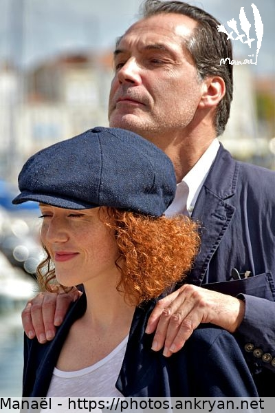Samuel Labarthe et Blandine Bellavoir (France / Festival / Fiction TV de La Rochelle 2015)
