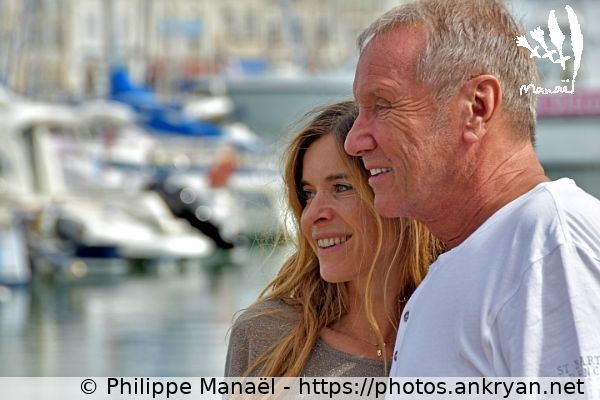 Samantha et Yves Rénier (1) (France / Festival / Fiction TV de La Rochelle 2015)