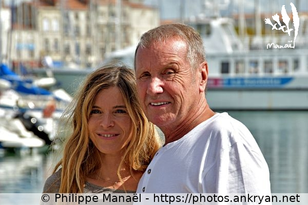 Samantha et Yves Rénier (2) (France / Festival / Fiction TV de La Rochelle 2015)