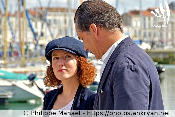 Blandine Bellavoir & Samuel Labarthe (France / Festival / Fiction TV de La Rochelle 2015)