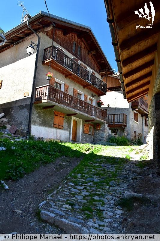 Toiture en tavaillons (Savoie : Pralognan, La Croix) - Ankryan Photos